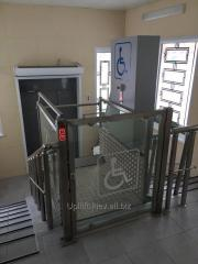 Elevators for disabled people of vertical movement