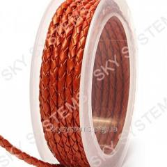 Leather wattled cord | 3,0 mm, Red 23 | Skye