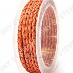 Leather wattled cord | 3,0 mm, Red 36 | Skye