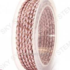 Leather wattled cord | 3,0 mm, Pink 12 | Skye