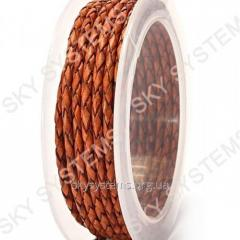 Leather wattled cord | 3,0 mm, Brown 31 | Skye