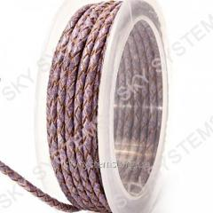 Leather wattled cord | 3,0 mm, Violet 13 | Skye