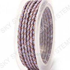 Leather wattled cord | 3,0 mm, Violet 17 | Skye