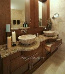 Sinks, sinks, bowls and vases from natural granite
