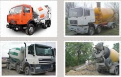 Concrete sale delivery of the Sum of Akhtyrk,