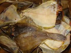 Flounder dried. Flounder Far East. Sun-dried fish.