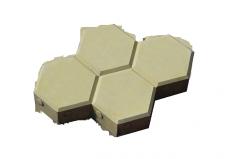 Вибролитая тротуарная плитка Соты-40