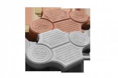 Вибролитая тротуарная плитка Рокко, 40