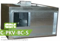 Канальный вентилятор в шумоизолированном корпусе C-PKV-BC-S