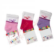 Носки для девочки Сердечки Nesti, розовый, 3-4