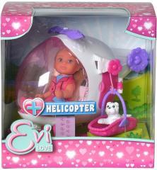 Кукла Evi с вертолётом и собакой