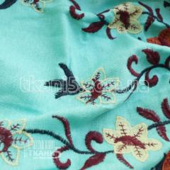 Fabric Flax embroidery coupon (mint) 6152