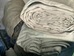 Awnings are tarpaulin waterproof, fire-resistant.