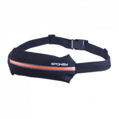 Спортивная сумка на пояс Spokey SPARK (original) для бега черно-оранжевая