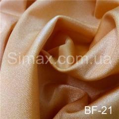 Ткань бифлекс с блеском, Код: ВF-21 Бежевый