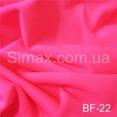 Ткань бифлекс с блеском, стрейчевая, Код: ВF-22 Неон розовый