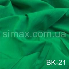 Ткань бенгалин, Код: ВК-21 Зеленая бирюза