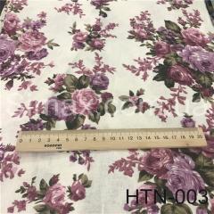 Ткань Лён принт HTN-001, Код: HTN-003
