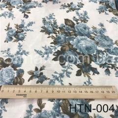 Ткань Лён принт HTN-004, Код: HTN-004