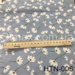 Ткань Лён принт HTN-005, Код: HTN-005