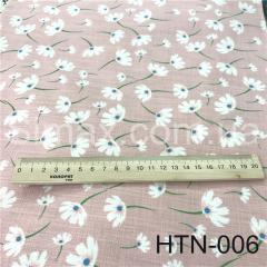 Ткань Лён принт HTN-006, Код: HTN-006
