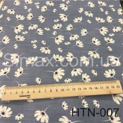 Ткань Лён принт HTN-007, Код: HTN-007