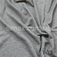 Ткань трёхнитка без начеса, Код: АТ-33 Темно-серый