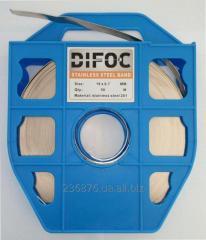 Стальная бандажная лента Difoc 19х07мм 50м lenta