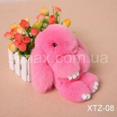 Брелок Кролик Брелок на сумку Кролик из натурального меха Rex, Код: XTZ-08 Светло-розовый