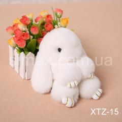 Брелок Кролик Брелок на сумку Кролик из натурального меха Rex, Код: XTZ-15 Белый
