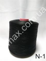 Нитки для оверлока  40/2, Код: N-1 черная 150D/1