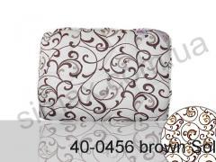 Одеяло антиаллергенное, двуспальное евро 200x220 см., Код: 40-0456 brown Solo200х220
