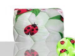 Одеяло антиаллергенное, полуторное 140x205 см., Код: 10-0098 green 140х205