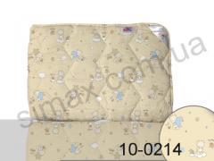 Одеяло антиаллергенное, полуторное 140x205 см., Код: 10-0214 beige 140х205