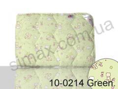 Одеяло антиаллергенное, полуторное 140x205 см., Код: 10-0214 green 140х205