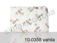 Одеяло антиаллергенное, полуторное 140x205 см., Код: 10-0358 vanila 140х205