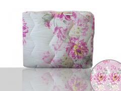 Одеяло антиаллергенное, полуторное 140x205 см., Код: 1448 Цветы 140х205