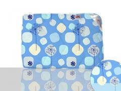 Одеяло антиаллергенное, полуторное 140x205 см., Код: 40-0607 blue 140х205