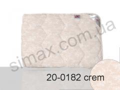 Одеяло с наполнителем из шерсти, двуспальное евро 200x220 см., Код: 20-0182 crem 200x220