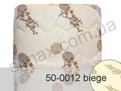 Одеяло с наполнителем из шерсти, двуспальное евро 200x220 см., Код: 50-0012 beige 200x220