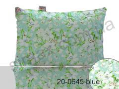 Подушка синтепух 50х70 см, Код: 20-0645 blue 50х70