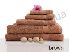 Полотенце махровое гладкокрашенное 40х70см, Код: Brown 40х70