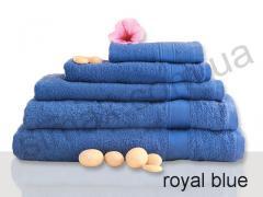 Полотенце махровое гладкокрашенное 40х70см, Код: Royal blue 40x70