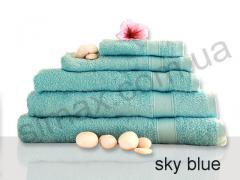 Полотенце махровое гладкокрашенное 40х70см, Код: Sky blue 40x70