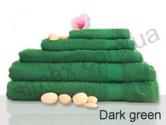Полотенце махровое гладкокрашенное 70х140см, Код:  Dark green 70х140