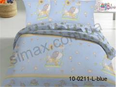 Постельная ткань Бязь Rainforce набивная, Код: 10-0211-L-blue