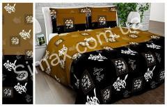 Постельная ткань Gold Бязь, Код: N65983 brown