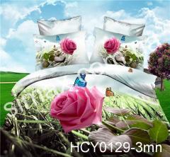 Постельная ткань Сатин-пано 3D, Код: NCY0129-3mn