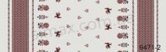 Скатертная ткань Рогожка, набивная, Код: 9471-2