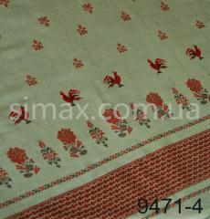 Скатертная ткань Рогожка, набивная, Код: 9471-4